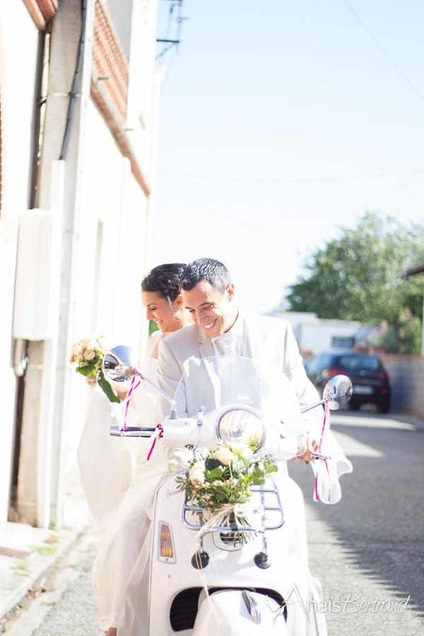 mariage vespa