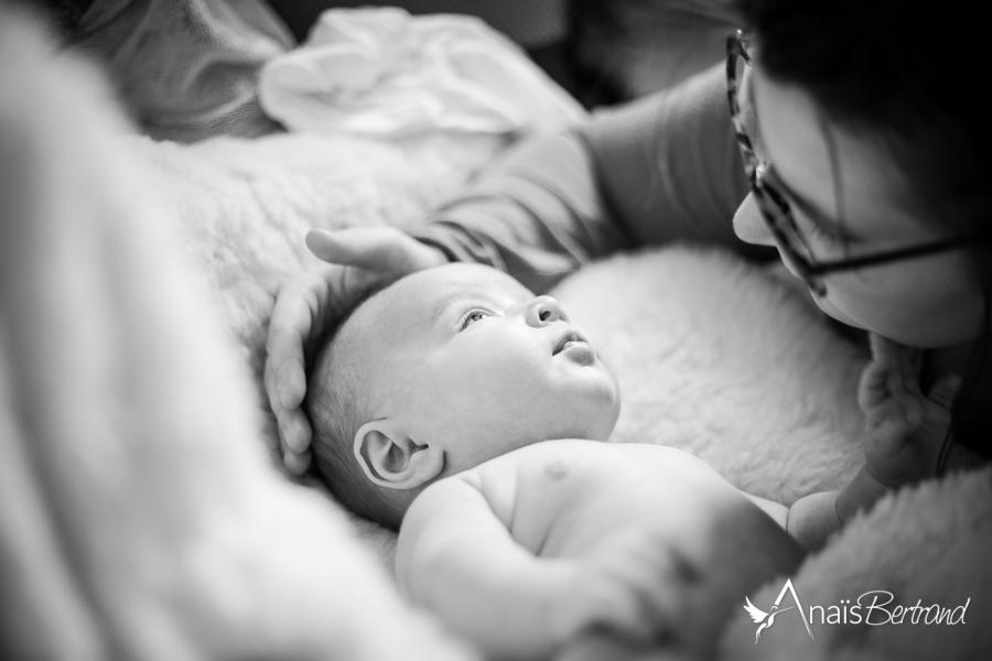 séance naissance Toulouse, Anaïs Bertrand photographe famille, bébé