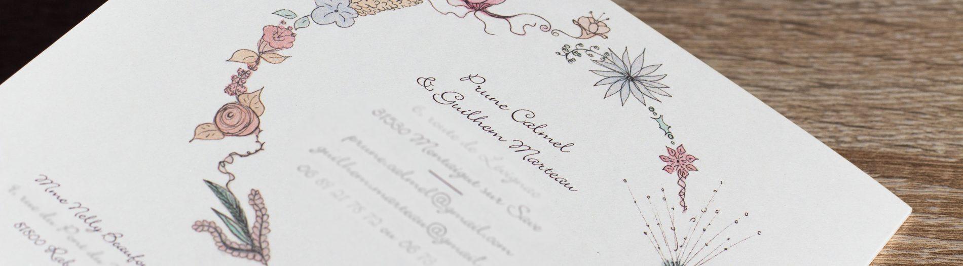 Faire-part & papeterie de mariage originaux {thème champêtre}