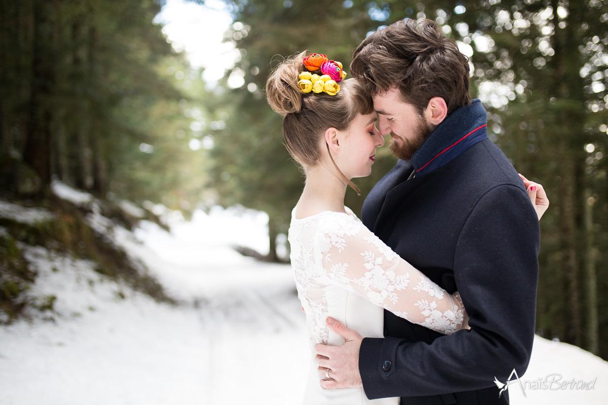 mariage en hiver-photographe-mariage-toulouse-anais-bertrand_shooting snow romance