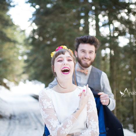 Mariage en hiver au pied des Pyrénées {Shooting d'inspiration Snow Romance}